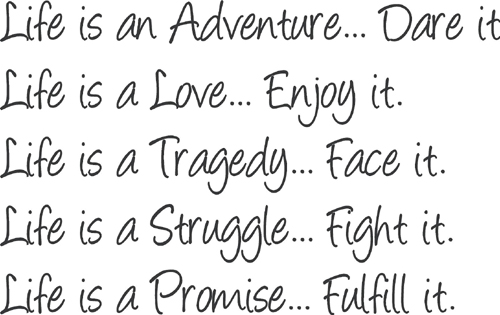 life is fine poem