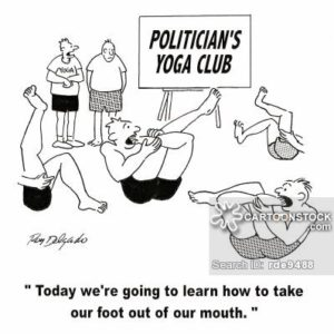'Today we're going to learn how to take our foot out of our mouth.'